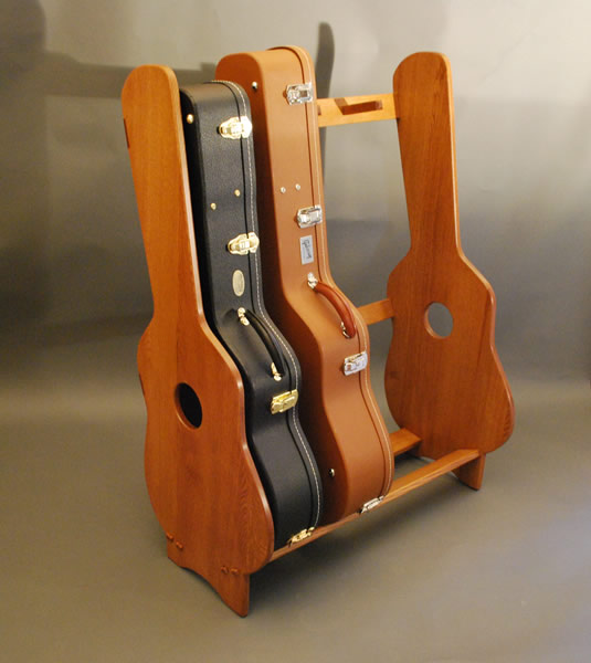 Wooden guitar case racks, plain wood plaque, primary school woodwork ...